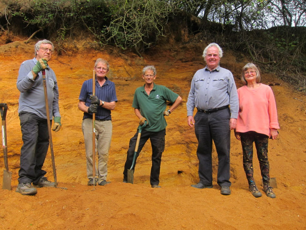 Ron and fellow AONB volunteers
