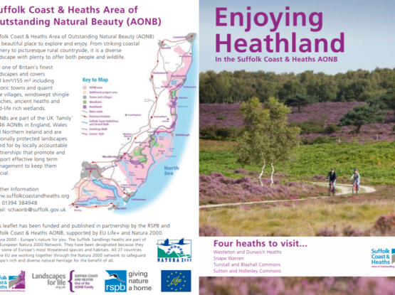 An image showing the visitor guide for Enjoying Heathland