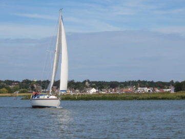 Sailing boat in the water