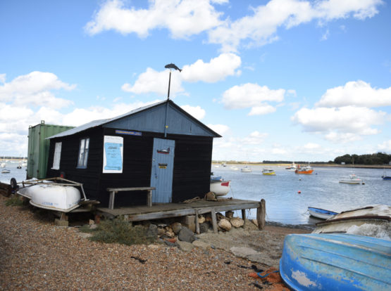 A timber building on the river Deben at Felixstowe Ferry