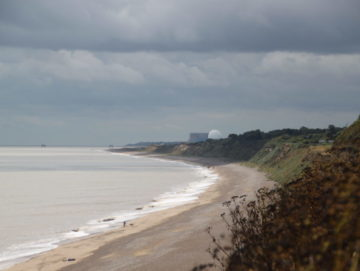 Sizewell Nuclear Plant seen from a beach
