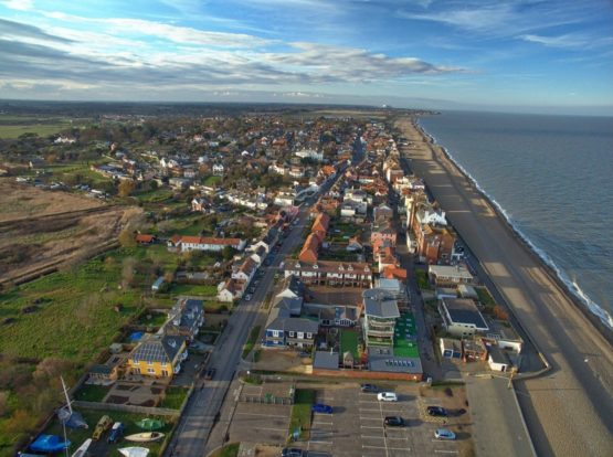View of Aldeburgh from the air